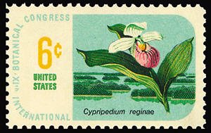 First orchid stamp issued by US